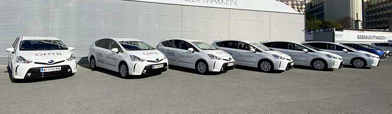 Toyota Prius-Hybrid Übergabe